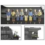 HO Engineer & Fireman Figure Sets (Press Fit or Glue for All BLI Engines) -- Style A, B, C & D pkg(4)