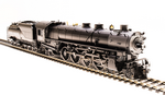 HO Class MT 4-8-2, Oil Tender - Sound & DCC - Paragon3(TM) -- Union Pacific 7012 (black, graphite)