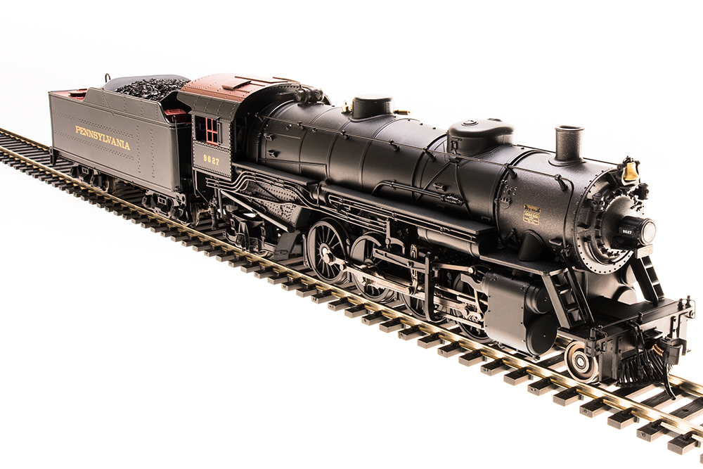 HO USRA 2-8-2 Light Mikado with Sound and DCC - Paragon3 -- Pennsylvania Railroad 9628 (black, graphite, Tuscan)