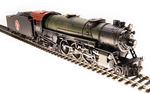 HO USRA 4-6-2 Heavy Pacific - Sound and DCC - Paragon3 -- Merry Christmas 25 (green, red, graphite, Tuscan, gold)