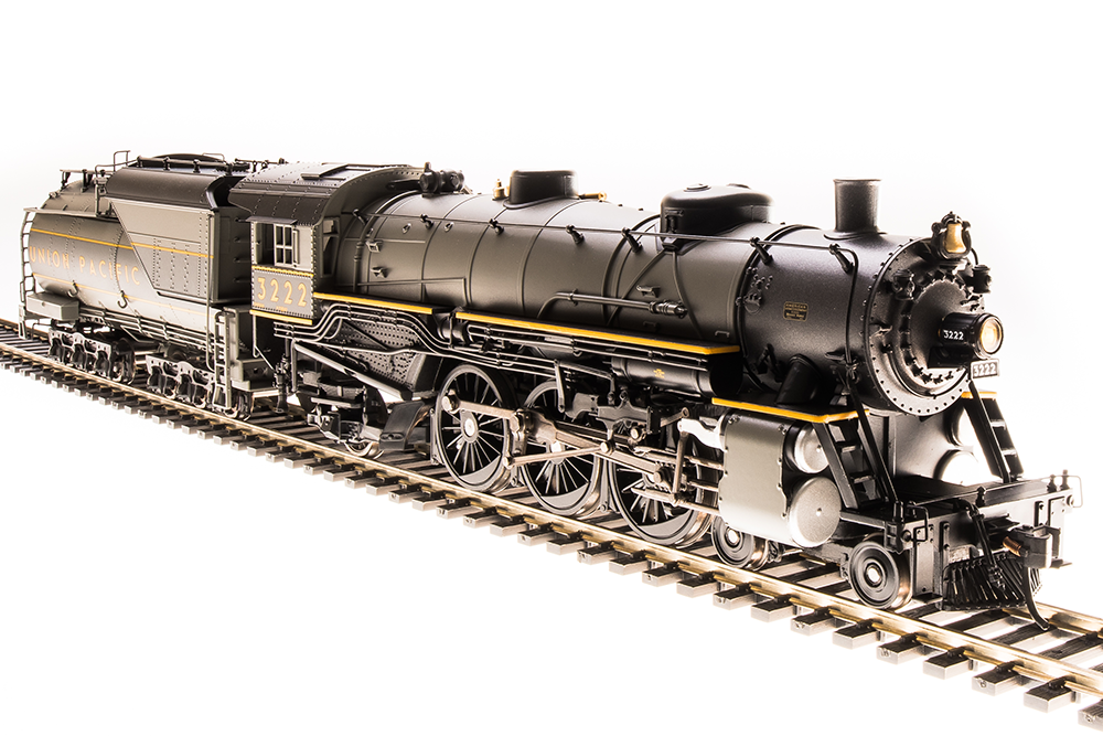 HO USRA 4-6-2 Heavy Pacific - Sound and DCC - Paragon3 -- Union Pacific #3219 (2-Tone gray, yellow)