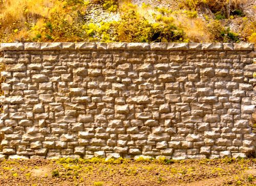 Random Stone Retaining Wall -- Medium - 7 x 3-3/8