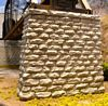 Single-Track Cut Stone Bridge Pier w/Rectangular Base -- 3-3/4 x 1 x 3-1/2
