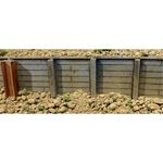 Flexible Timber Retaining Wall -- Medium for HO Scale: 3-3/4 x 12