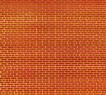 Flexible Brick Wall Sheet 2-Pack -- Small for HO & N Scales 3-3/4 x 12