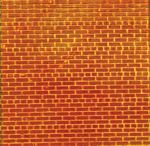 Flexible Brick Wall Sheet 2-Pack -- Medium for HO Scale: 3-3/4 x 12