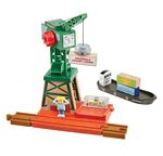Cranky at the Docks - Thomas and Friends(TM) Wooden Railway -- Set with Crane, Cargo Pieces, Figure and Barge