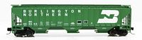 N 4750 Cu.Ft. 3-Bay Covered Hopper - Ready to Run -- Burlington Northern 459575 (1970s Cascade Green, white, Large Logo)