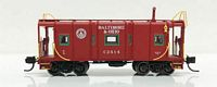 N B&O I-12 Wagontop Bay Window Caboose - Ready to Run -- Baltimore & Ohio C2434 (1945-55, red, white, 25