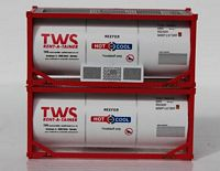 N Scale TWS 20' Standard Tank Container (full wrap around walkway) 205211