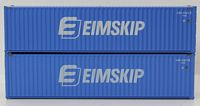 N Scale EIMSKIP 40' HIGH CUBE containers with Magnetic system, Corrugated-side. JTC # 405137