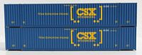 N Scale UMXU (ex -CSX boxcar logo) 53' HIGH CUBE 6-42-6 corrugated containers with Magnetic system. JTC # 535024