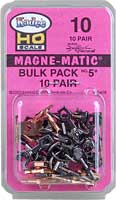 #10 Bulk Pack No.5(R) Knuckle Couplers -- No Draft Gear Boxes  10 Pair