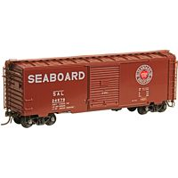 Pullman-Standard 40' Boxcar w/8 Door - Ready to Run -- Seaboard Air Line 24579 (Boxcar Red, Heart Logo)