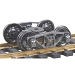 Vulcan Double Truss Fully Sprung Self-Centering Metal Trucks -- Code 110 (.110