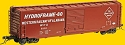 PS-1 50' Boxcar w/9' Door - Ready to Run -- Western Railway of Alabama #5101 (1963 Scheme, Boxcar Red, Hydroframe)