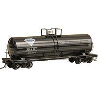 ACF 11,000-Gallon Tank Car - Ready to Run -- Gem Automatic Gas Co. #207 (Full Platform, Built 1948, Factory New,Black)