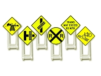 Lionel O Gauge Railroad Crossing Signs