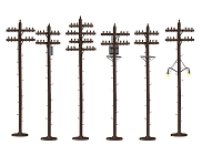 Lionel O Scale Telephone Poles