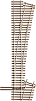Micro Engineering HO Code 83 Ladder Track System Turnout -- #5e Right-Hand Last Ladder