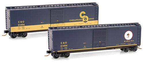 Micro-Trains 50' Standard box car - Chesapeake & Ohio #21494