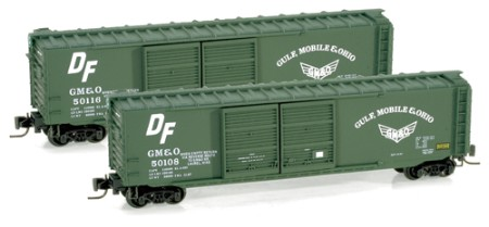 Z Scale 50' Double-Door Boxcar -- Gulf, Mobile & Ohio #50108