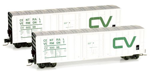 Z Scale 50' Rib-Side Boxcar -- Central Vermont #50098