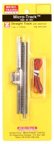 Z Scale, Micro-Track Code 55 Nickel Silver Rails w/Dual Joining System (DJS)(TM) -- 4-11/32