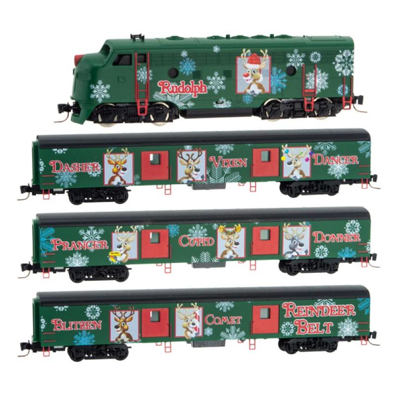 Christmas Train Set.Z Reindeer Belt Christmas Train Only Set F7 3 Baggage Cars