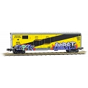 Micro-Trains N Scale, 50' Standard Box, 075 44 200, Wisconsin & Southern Weathered/Graffiti  (WSOR) #503194