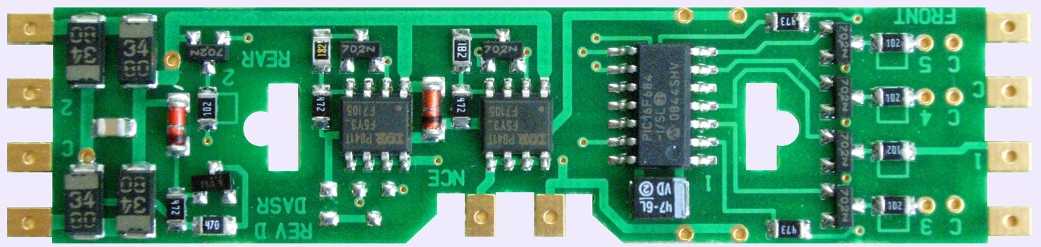DA-SR DCC Control Decoder 4-Pack 1.3 Amp - Silent Running(TM) -- For Kato Drive & Athearn Genesis
