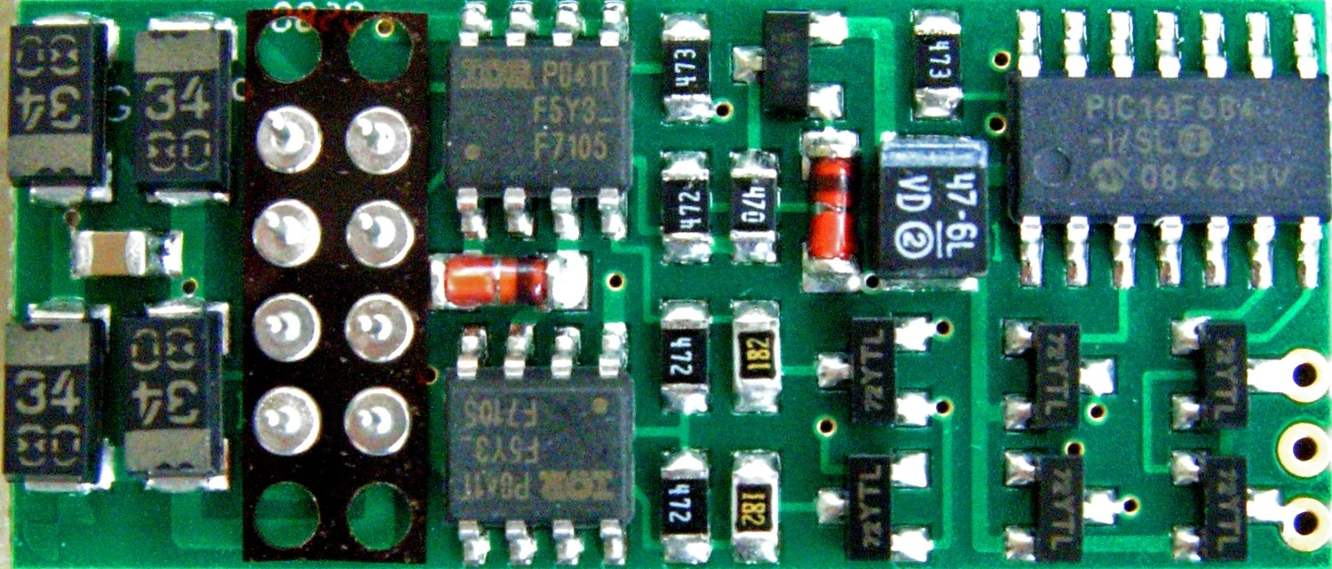 P2K-SR DCC Control Decoder 1.3 Amp - Silent Running(TM) -- Direct Plug-In, 4 EFX Outputs for Life-Like GP7, 9, 30 & SD60