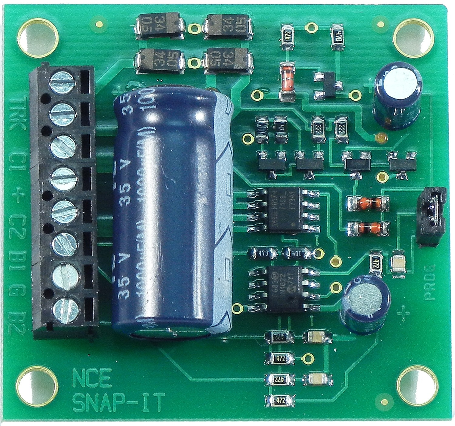 Snap-It Switch Machine DCC Decoder -- For Single Twin Coil Type Machine