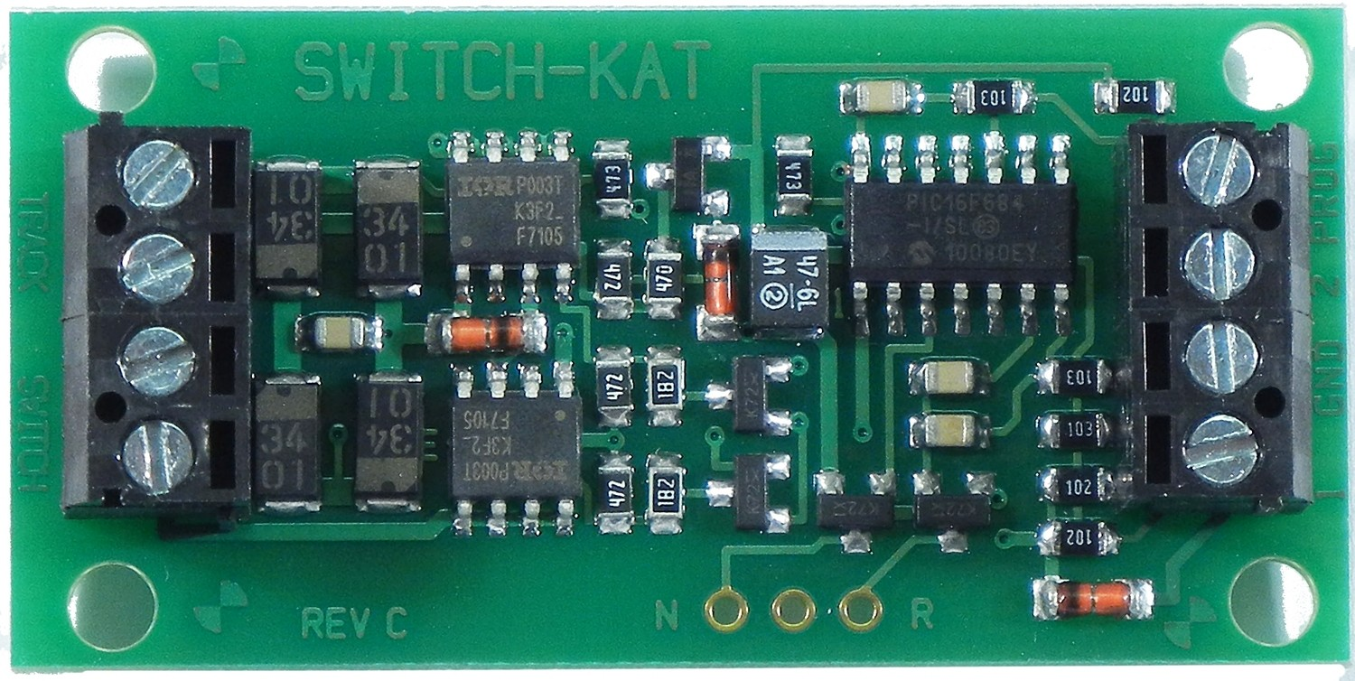 Switch Machine Decoder -- Switch-Kat For Single Kato Unitrack Remote Switch