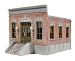 Ameri-Towne, O Scale city Hall 1-Story Building Kit