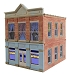 Ameri-Towne, O Scale Beckett's Clothing 2-Story Building Kit