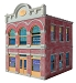 Ameri-Towne, O Scale Pat & Jeans Jewelry 2-Story Building Kit