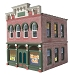 Ameri-Towne, O Scale Vinny's Grill 2-Story Building Kit
