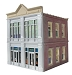 Ameri-Towne, O Scale Clare's Furniture 2-Story Building Kit