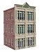 Ameri-Towne, O Scale 1st national Bank  3-Story Building Kit
