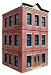 Ameri-Towne, O Scale Ed's Hardware  3-Story Building Kit