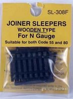 Wooden Railroad Ties - pkg(24) -- Suitable for Both Code 55 and 80