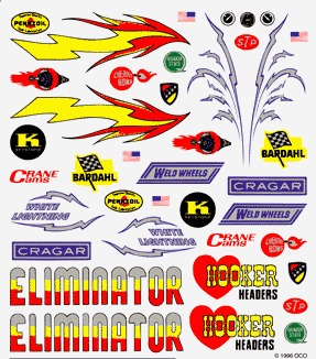 Dry Transfer Decals, Hot Rod