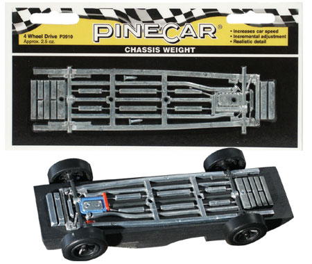 Chassis Weight, Four Wheel Drive 2.5 oz