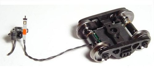 End of Train Device w/Long Wire - Assembled -- Gray Case, 33