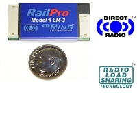 LM-3, RailPro (TM) Command Control Component -- Locomotive Module w/Direct Radio(TM) No Sound