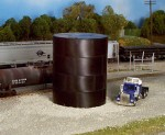 Rix Products - HO Scale Flat Top Water/Oil Tank -- Kit - Scale Height 29'  8.8m