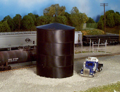Rix, HO Scale Peaked Top Water/Oil Tank -- Kit - Scale Height 29'  8.8m