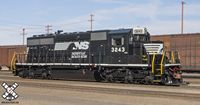 HO SD40-2 DCC/SND Norfolk Southern/Admiral Cab/Horsehead #3243