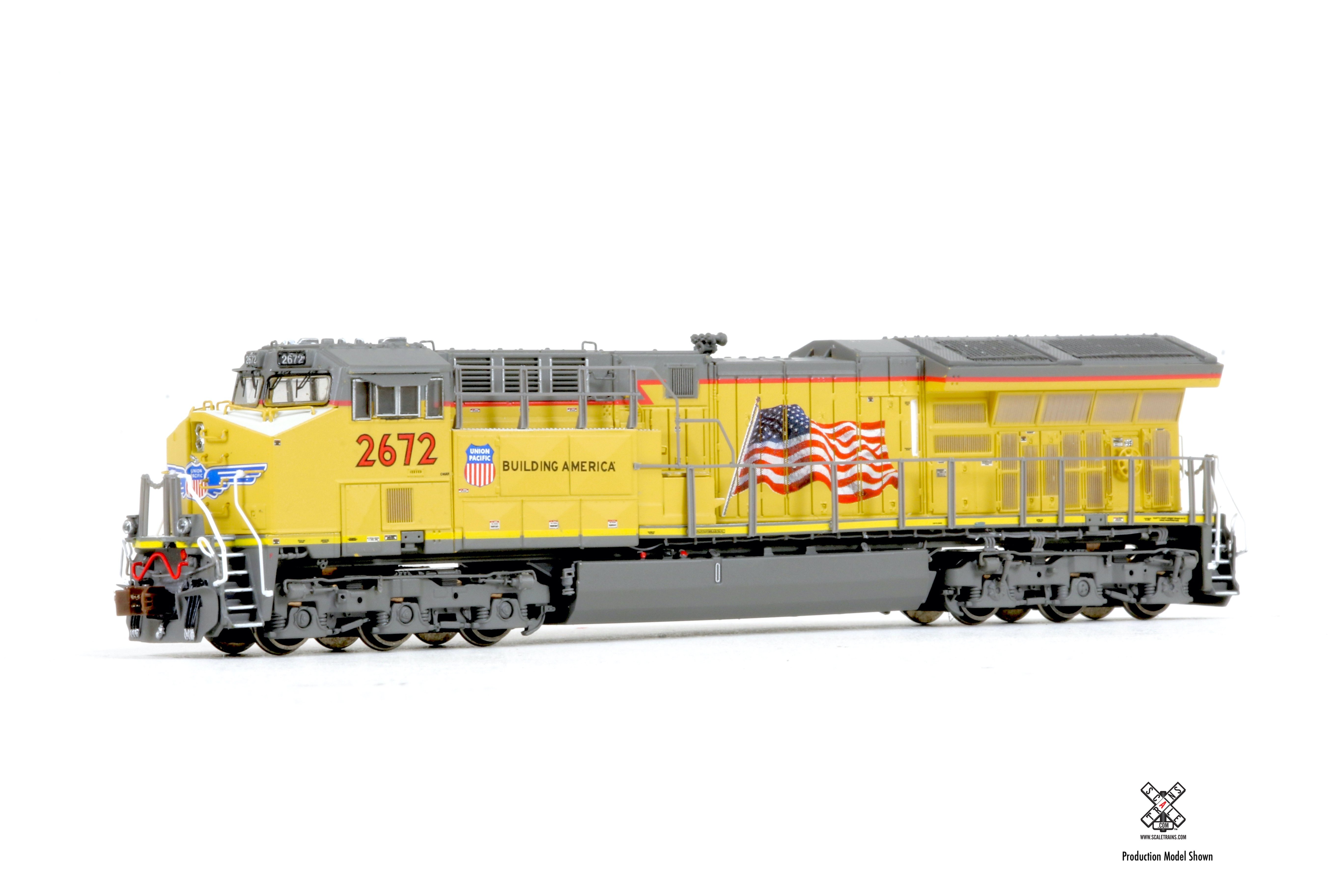 N Scale, Rivet Counter  Tier 4 GEVo C45AH, w/DC/DCC Ready Union Pacific #2672
